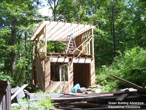 Green building adventure sheathing and second floor for Green board exterior sheathing